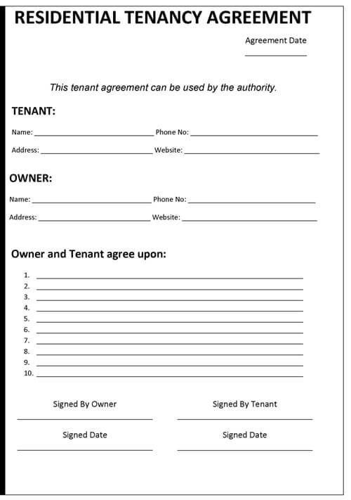 Doc#830535 Tenancy Agreement Templates u2013 Tenancy Contract - sample lease agreement template