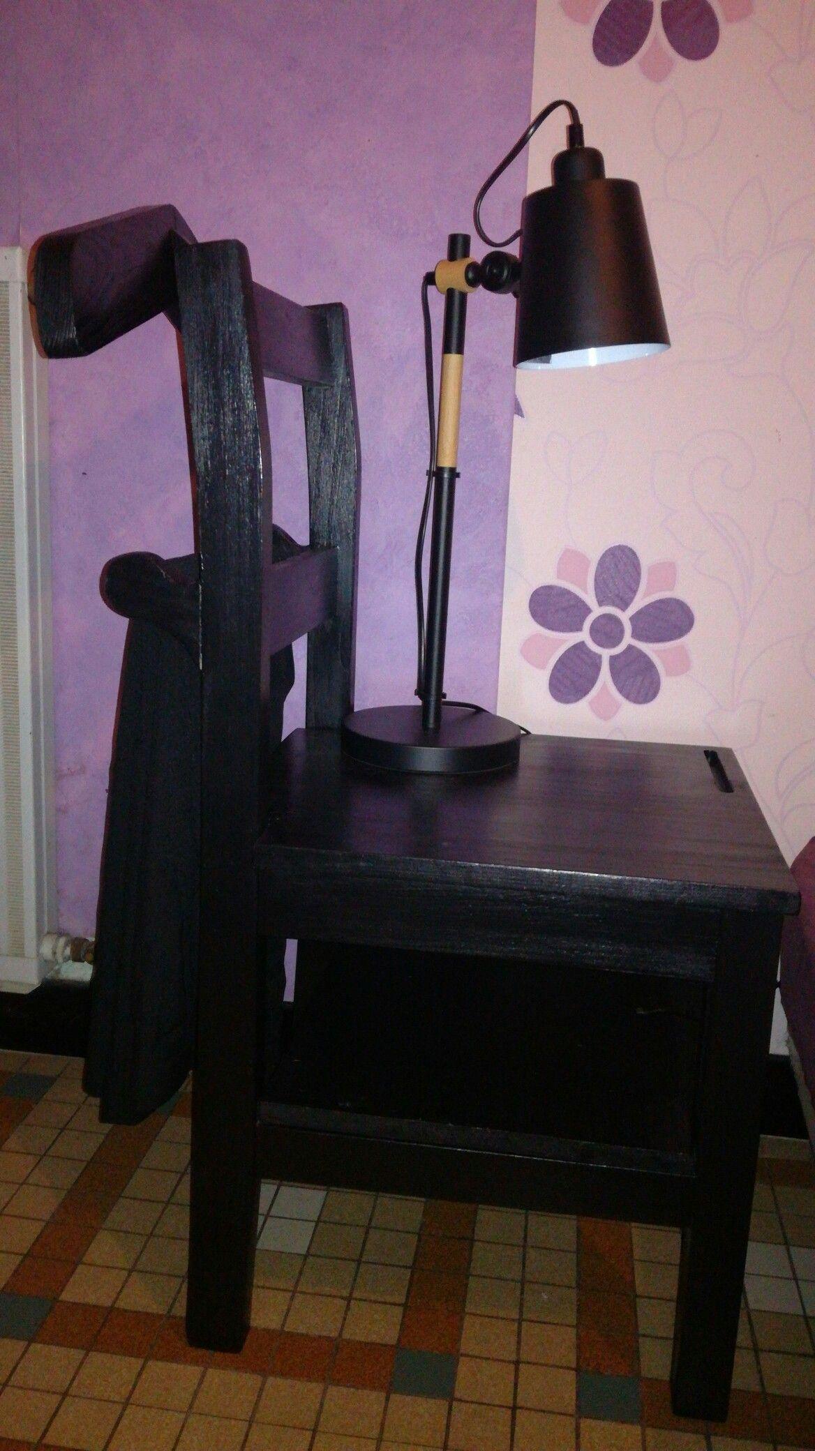 Fabriquer Valet De Chambre table de chevet/valet de chambre recyclage d'une vieille