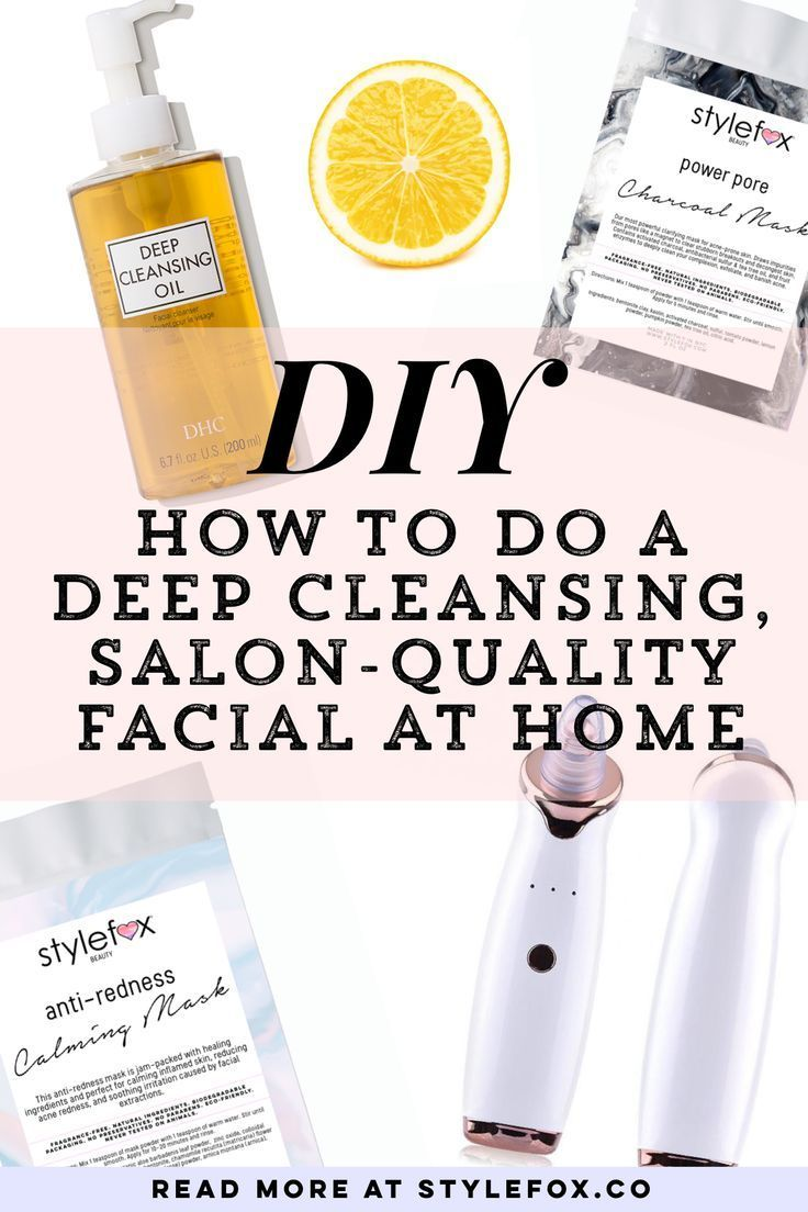 We're here to tell that with the right products and some basic skills, you can get a salon quality facial at home. The reason this five step process is so effective is that each step cleanses deeper and deeper into the pores, removing more debris along the way. #beauty #skincare #skin #makeup #facial
