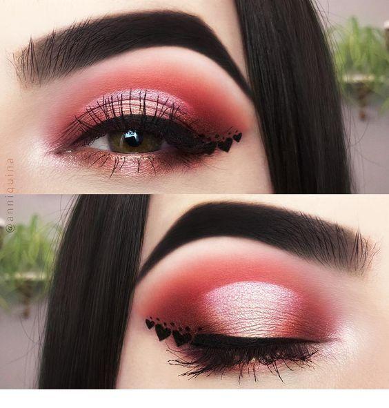 Cute love makeup idea