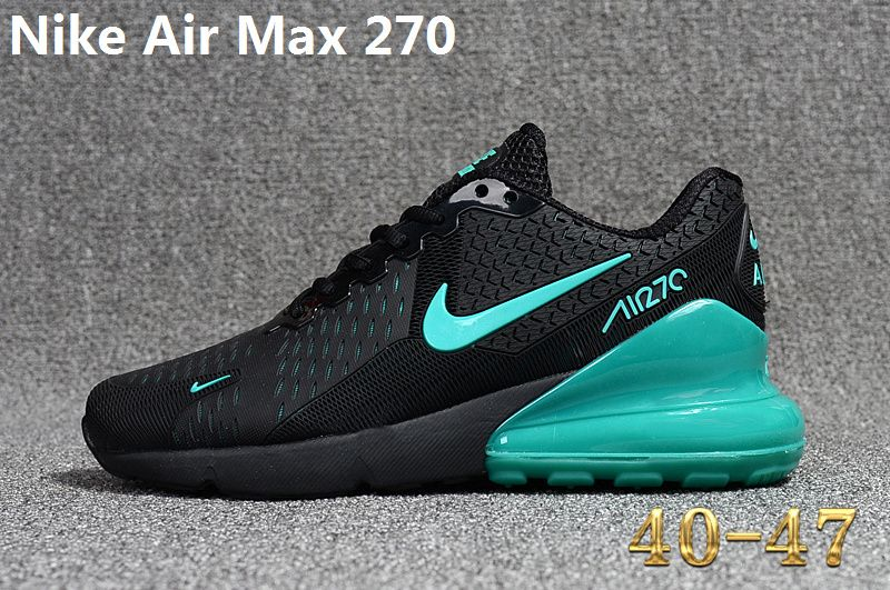 Spring Summer 2018 Shop Nike Air Max 270 KPU Latest Styles Running Shoes Sneakers 2018 Black Green
