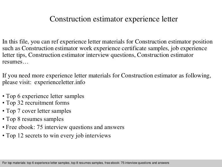 Commercial Drywall Estimator Cover Letter Estimator Cover Letters