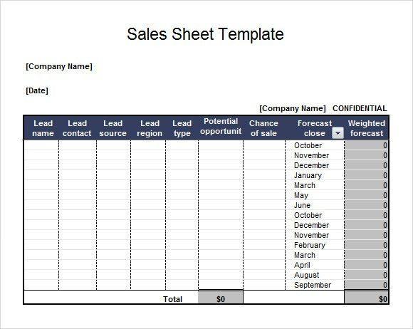 Sales Sheets Templates Free Sales Sheet Templates Download Free - sample contact sheet