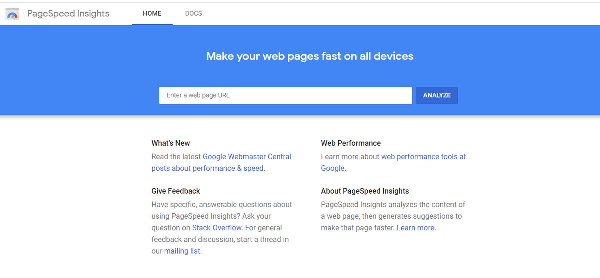 google speed test by insight