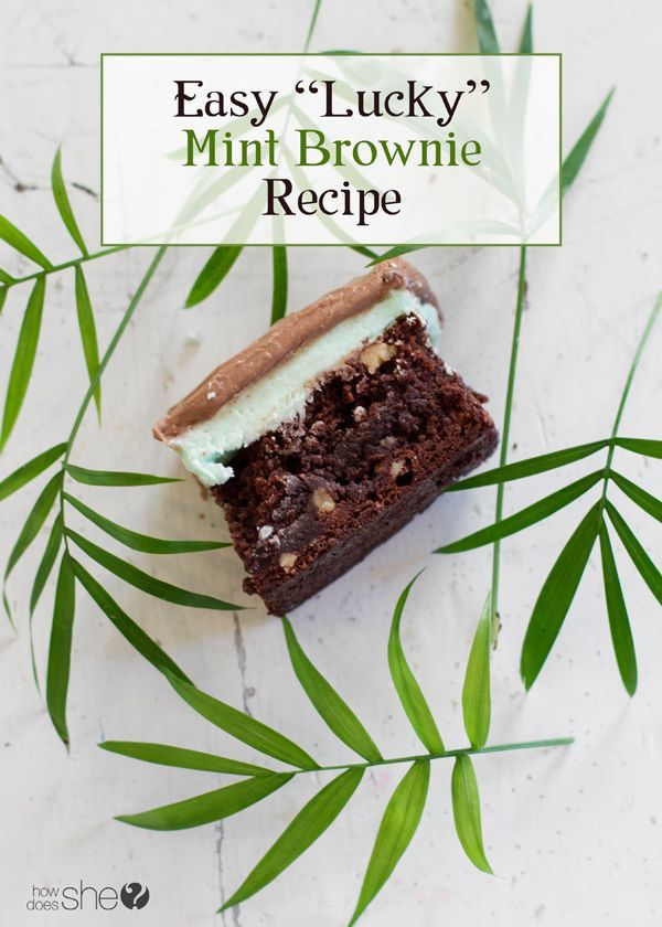 Best Lucky Mint Brownie Recipe