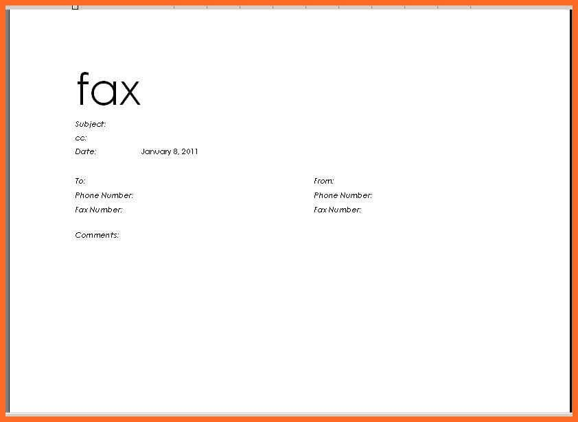Microsoft Word Fax Cover Sheet Free Fax Cover Sheet Template - sample office fax cover sheet