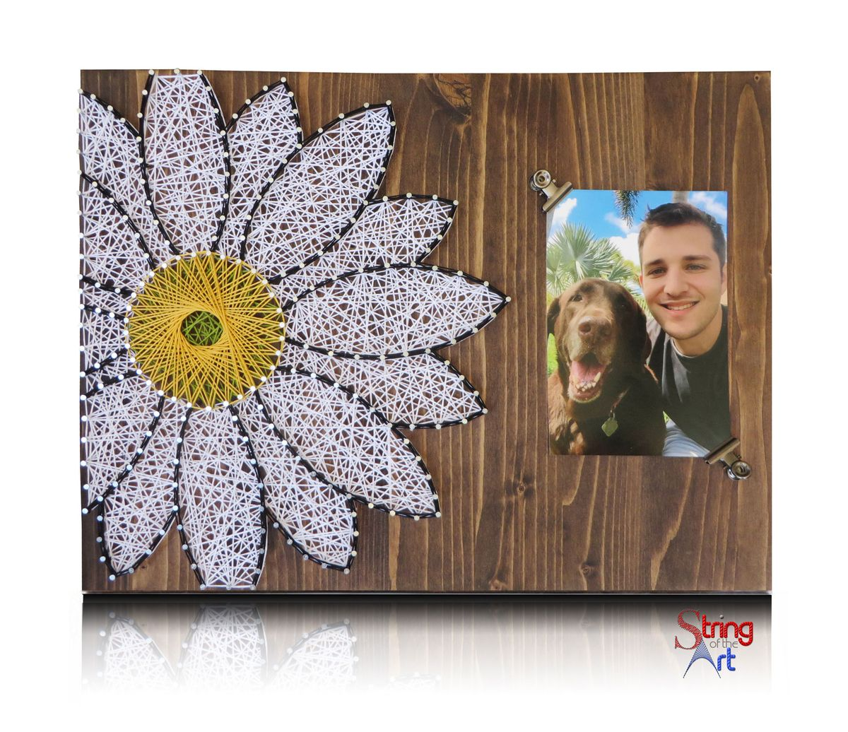 picture hanging template kit - daisy string art add a picture to this beautiful string a