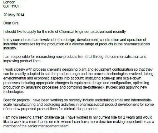chemical engineer cover letter chemical engineer cover letter polymer engineer cover letter