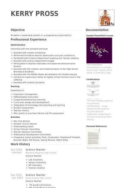 Sample Science Teacher Resume Science Teacher Resume Sample Page1 - science teacher resume
