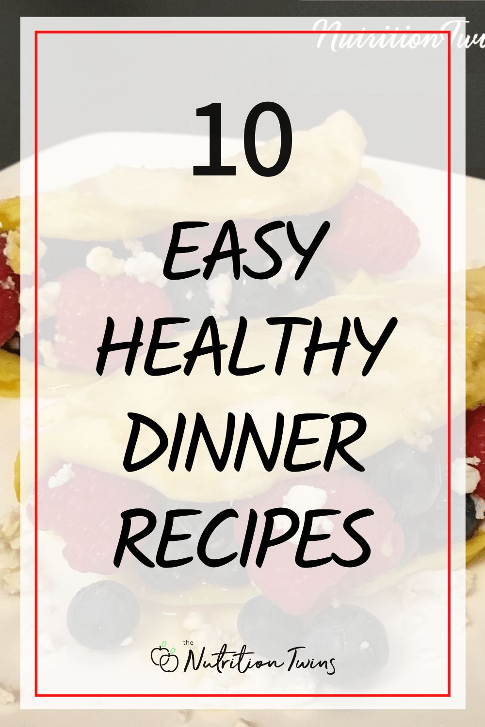 10 Easy Healthy Dinner Recipes. Meal prep for clean eating is simple with these easy healthy recipes. They're perfect for your flat belly workout plan because they'll help you lose weight. #weightlossrecipes #healthyrecipes #mealprep For MORE RECIPES, fitness & nutrition tips please SIGN UP for our FREE NEWSLETTER www.NutritionTwins.com