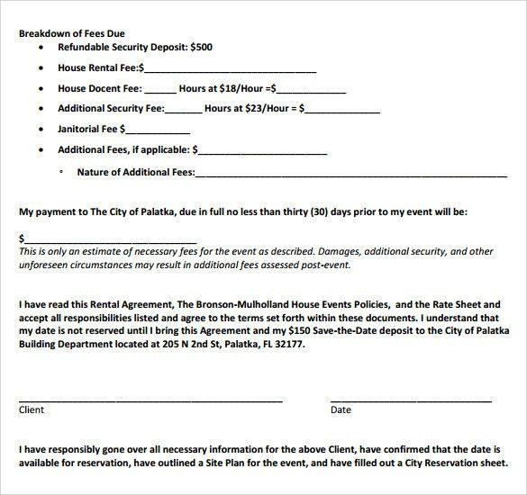 Downloadable Lease Agreement Residential Lease Agreement 8 Free - sample house lease agreement