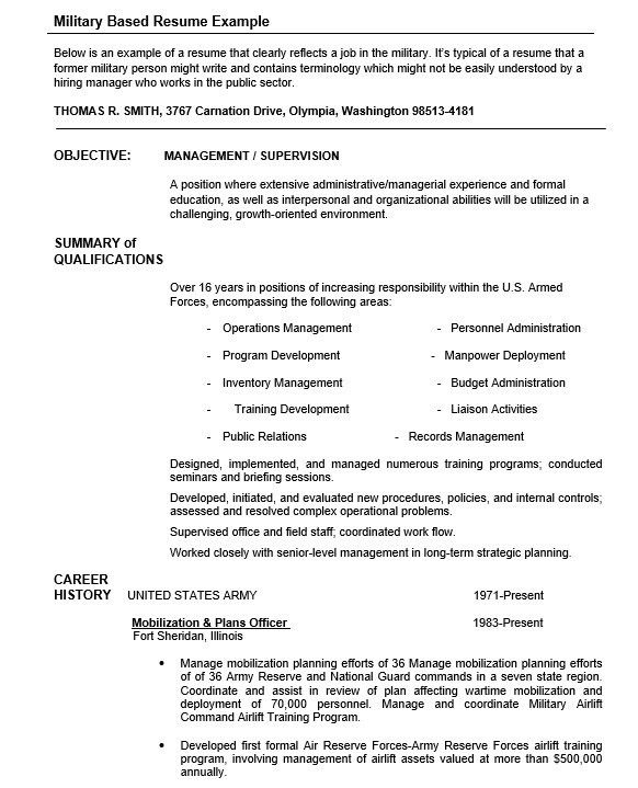 Security Clearance Resume Military Transition Resume Samples - resume for military