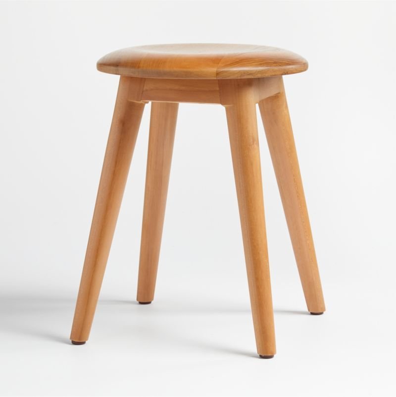 Shop Tulio Stool. This delightful wood stool is made of teak that's been certified by the Forest Stewardship Council (FSC), the environmental gold standard for responsibly managed forests.