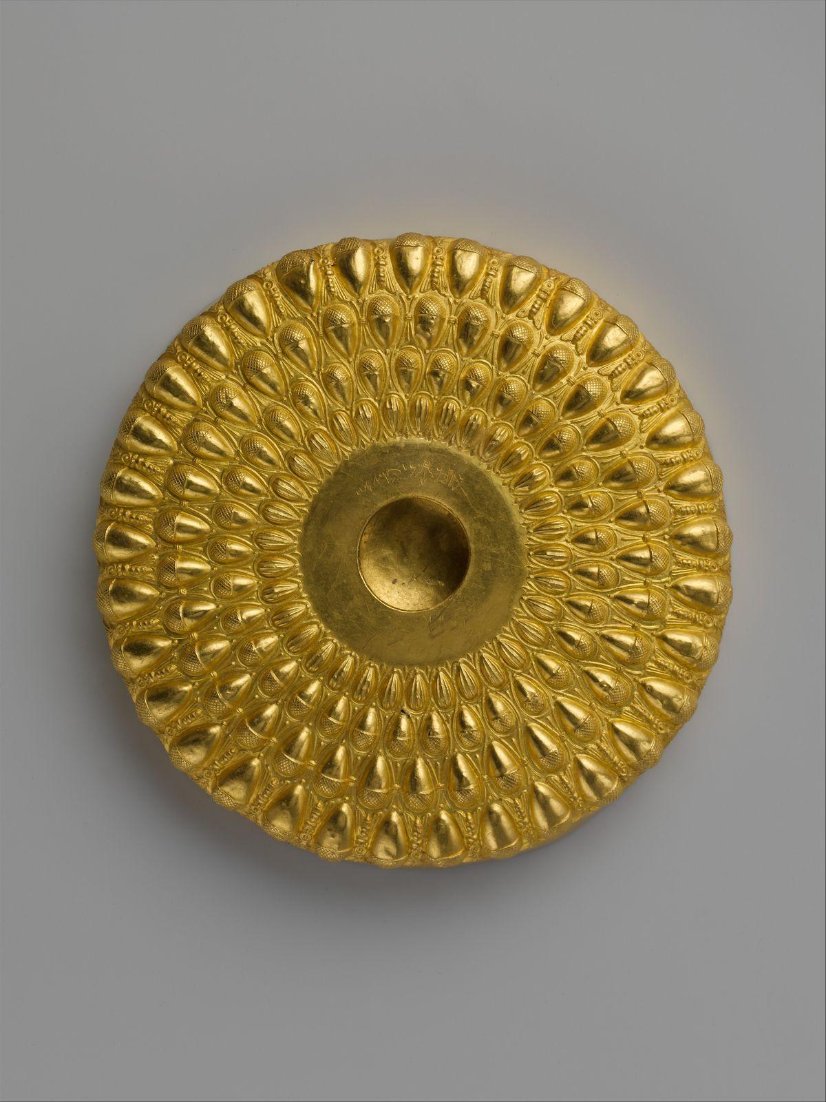 Gold phiale (libation bowl)