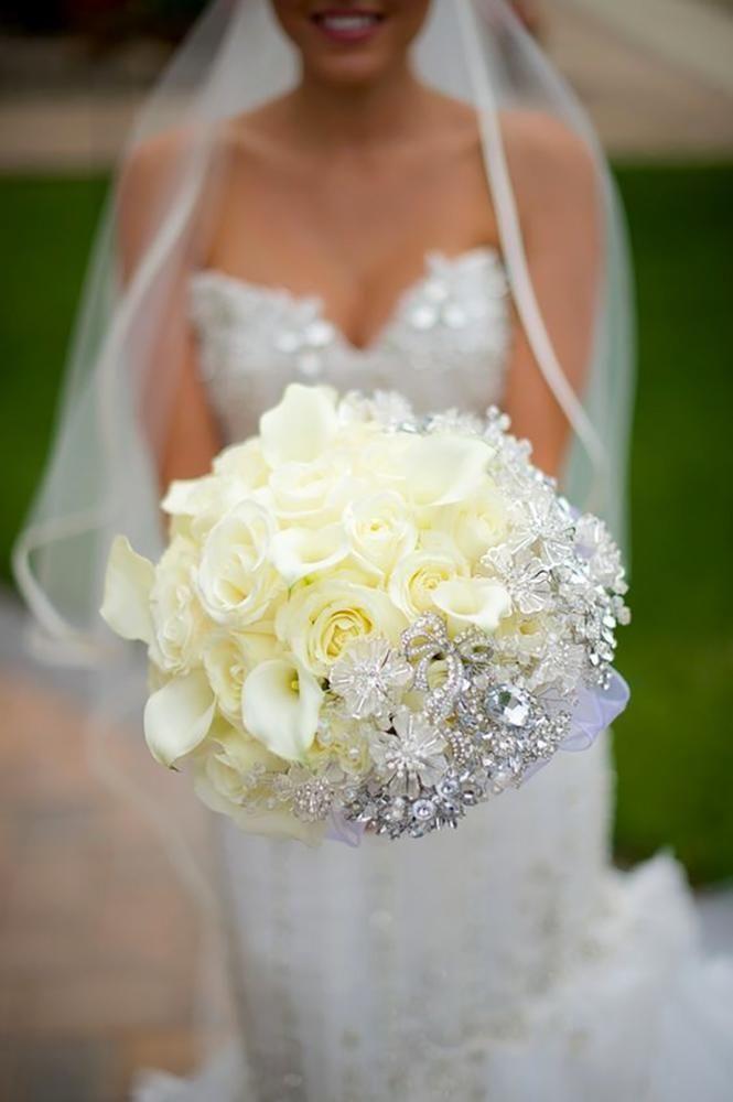 15 Luxury Wedding Bouquets ❤ luxury wedding bouquets white bouquet with jewels grasmere hills productions #weddingforward #wedding #bride