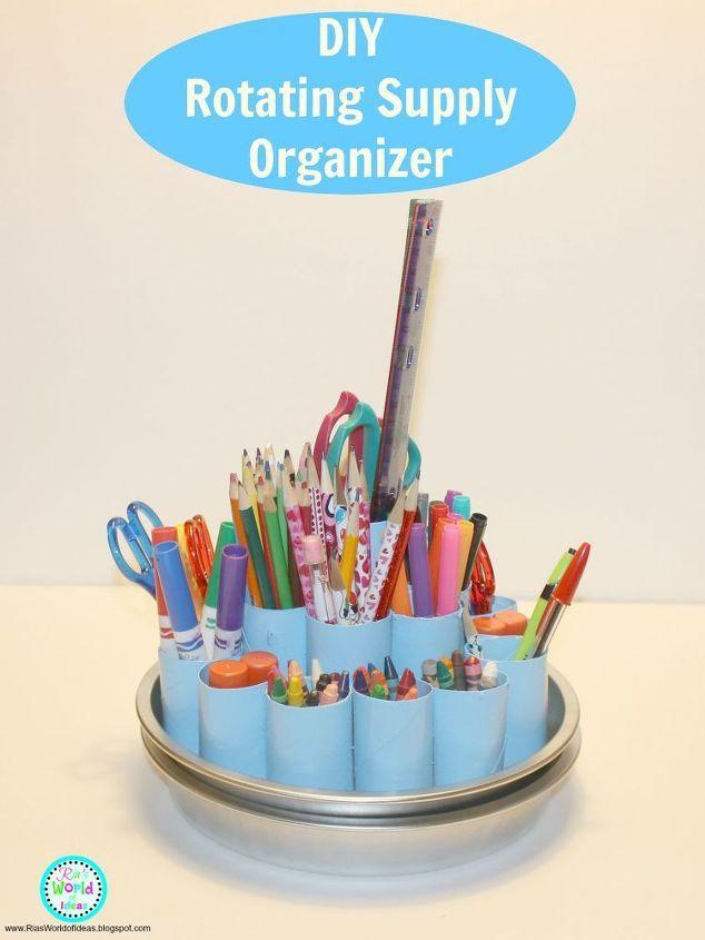 DIY Rotating Supply Organizer