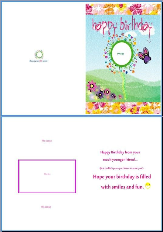 Free Birthday Card Template Word Free Greeting Card Template Word - free birthday card template word