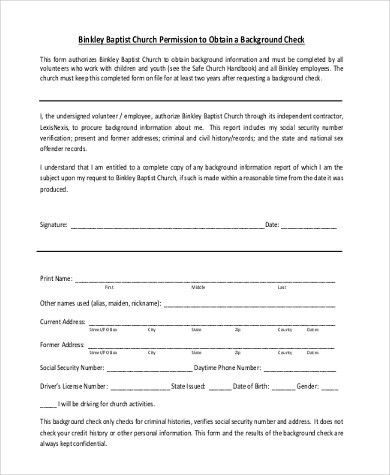 Background Check Authorization Form Template Background Check - background check consent forms