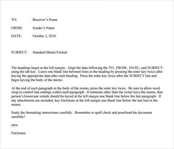 Internal Memo Format Letter 10 Audit Memo Templates Free Sample - casual memo letter template