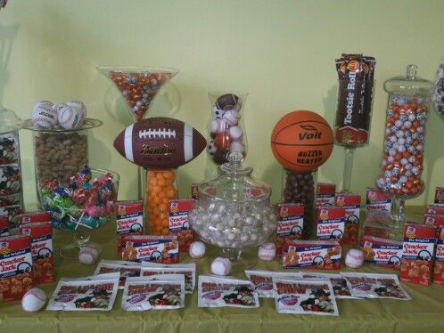 1000 images about sports theme candy bar on pinterest candy buffet union city and sports - Baby boy sports room ideas ...