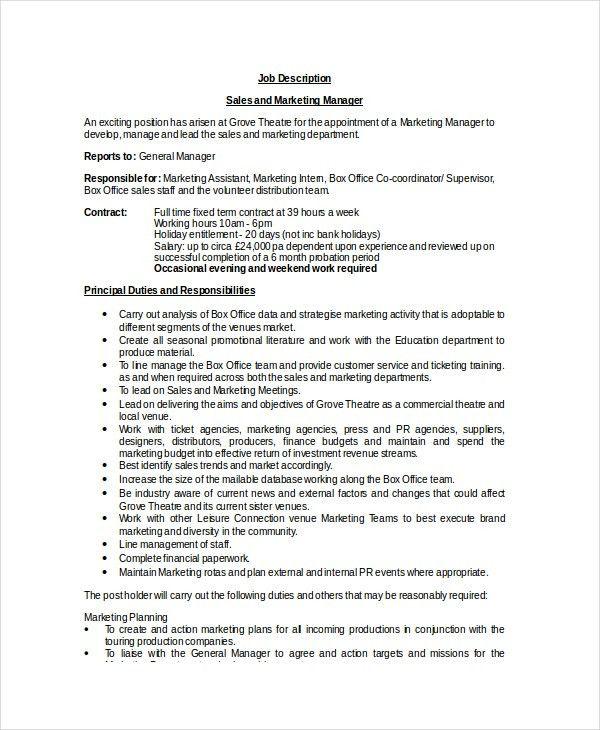 job description marketing assistant marketing assistant job