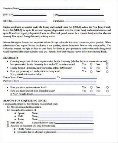 Reason Of Emergency Leave 2 Emergency Leave Letter For Personal - medical leave form
