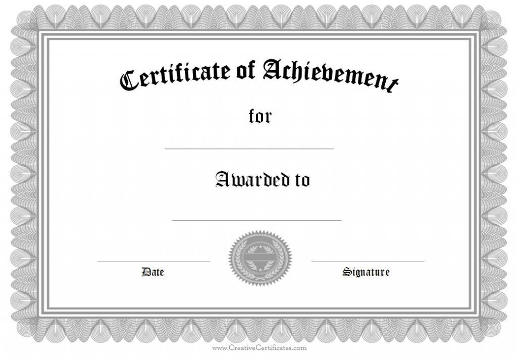 Blank Certificate Templates For Word Free Word Certificate - blank certificates template