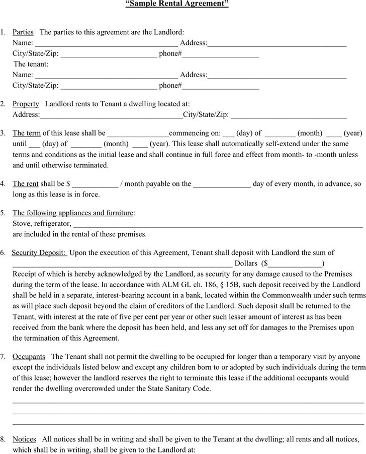 Template Lease House Lease Template 6 Free Word Pdf Documents - blank lease agreement example
