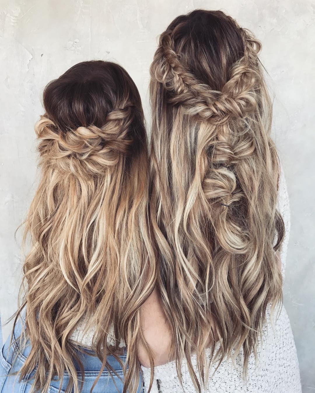 10 chaotisch geflochten lange Frisur Ideen für Hochzeiten und Urlaub #WomensHairstylesLongDark