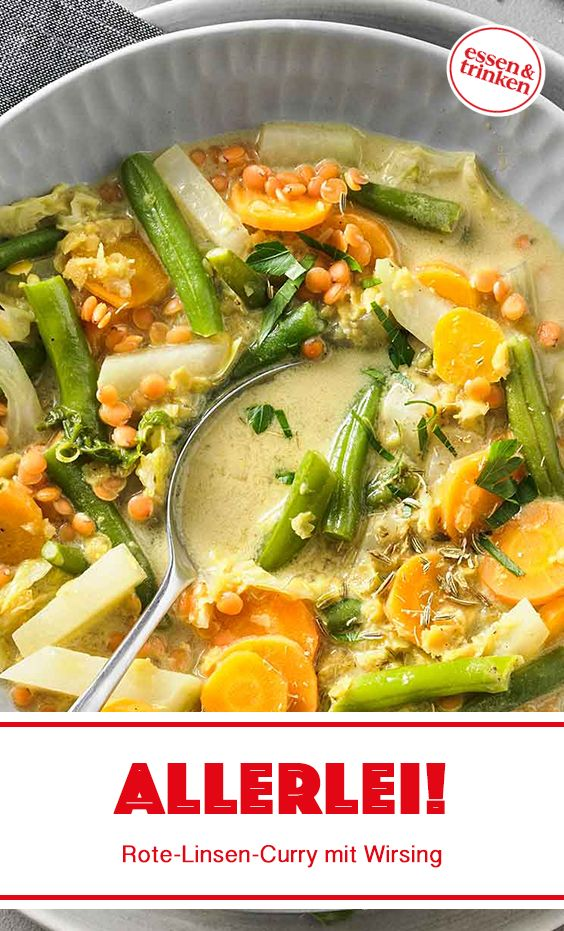 Rezept für Rote-Linsen-Curry mit Wirsing