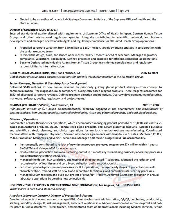 Senior Management Resume Samples Resume Sample 8 Senior Executive - senior executive resume