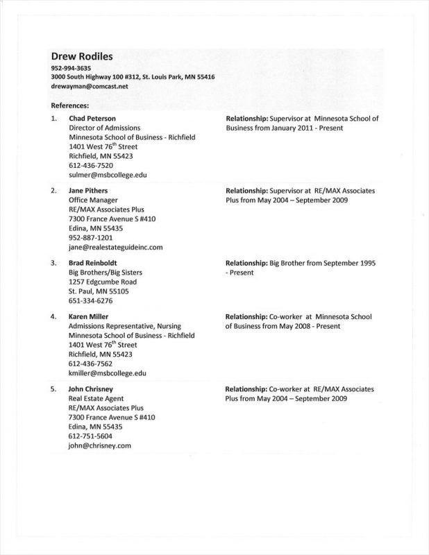 List of references template word radiotodorock resume reference template samuelbackman com flashek Images