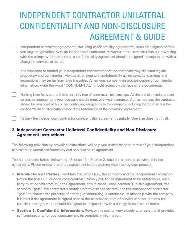 Confidentiality Clause Contract Confidentiality Agreements A - contractor confidentiality agreement