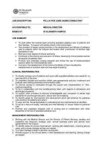 Nurse Consultant Job Description Nursing Job Role And Nursing Job