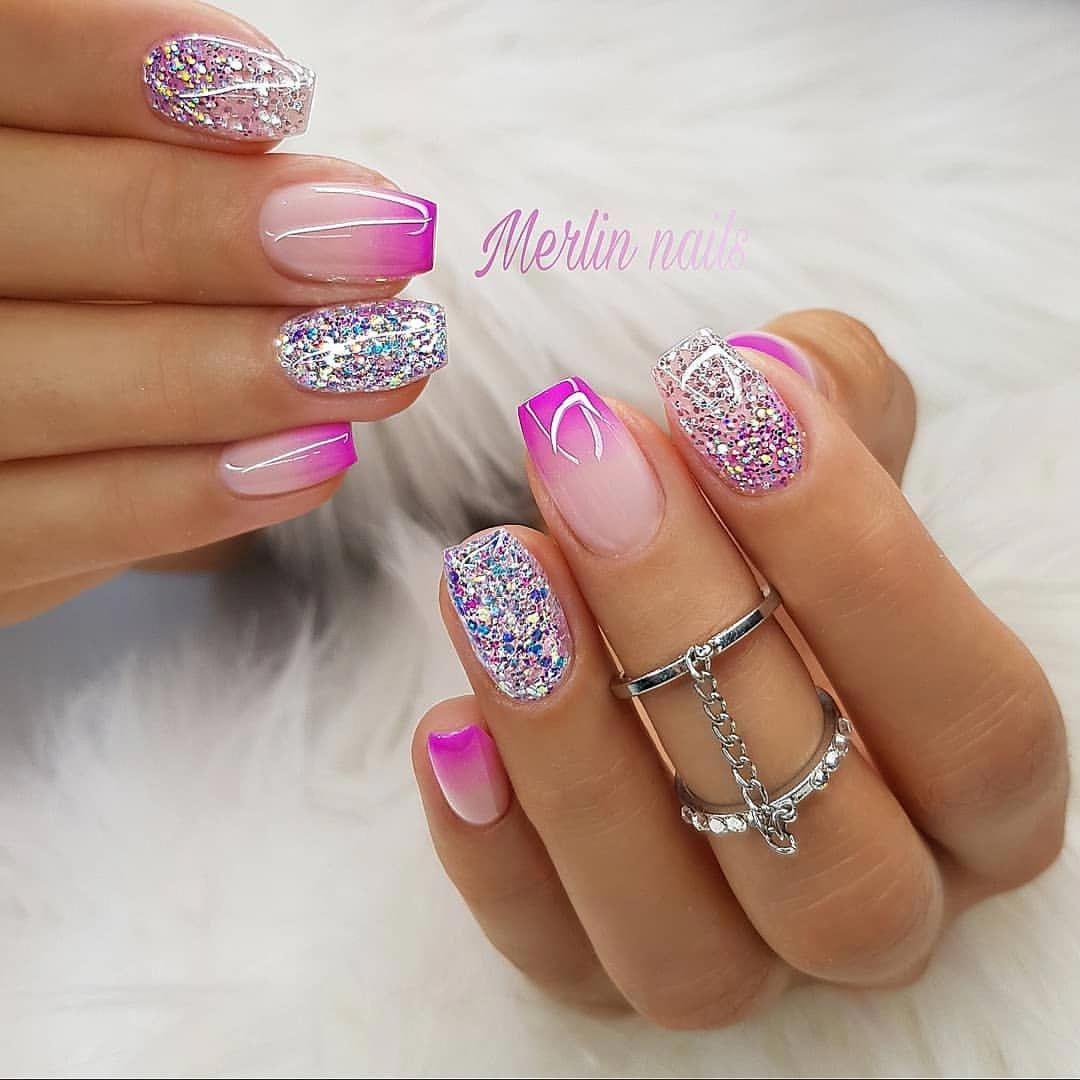 pink nails #beautifulacrylicnails