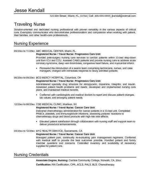 sample nurse manager resume - Objective For A Nursing Resume