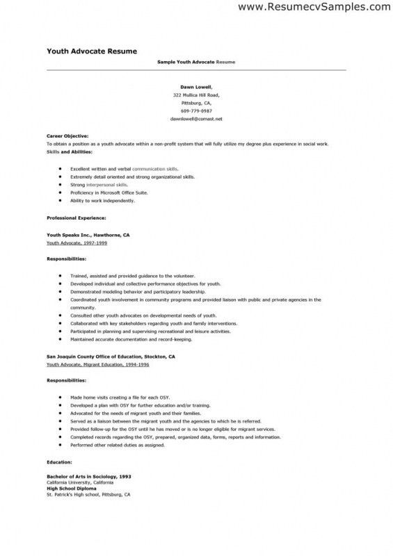 Sample Youth Care Worker Resume Functional Youth Care Worker - teenage resume example