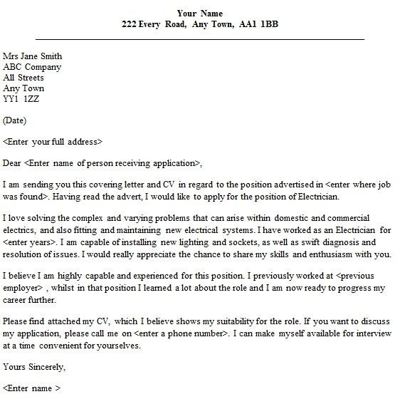 Electrical Technician Cover Letter Andrian James Blog
