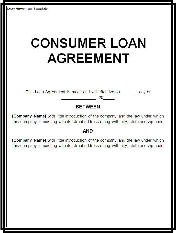 Draft Loan Agreement Template Loan Agreement Template Loan - loan form template