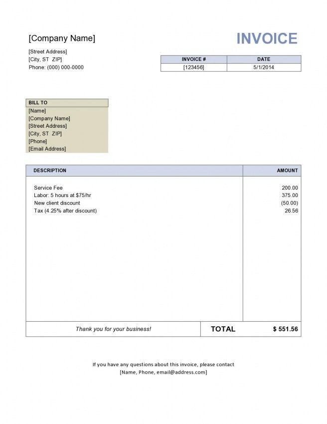 Contractor Invoice Template Sample Contractor Invoice 9 Examples - consulting invoice template