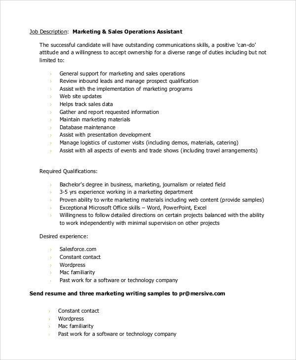 logistics job description hitecauto - trade marketing job description