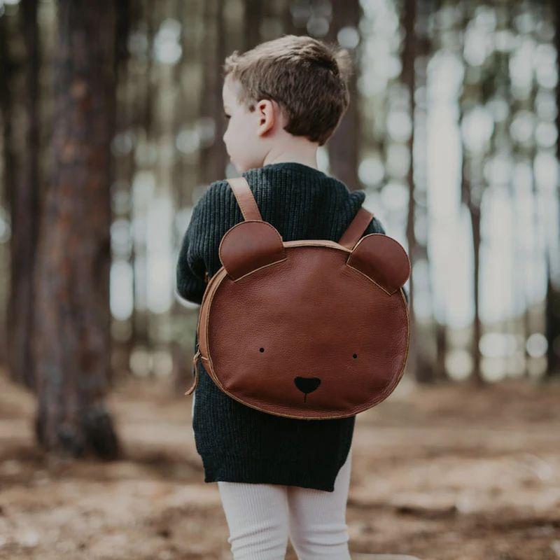 Umi Leather Schoolbag - Bear – bitte
