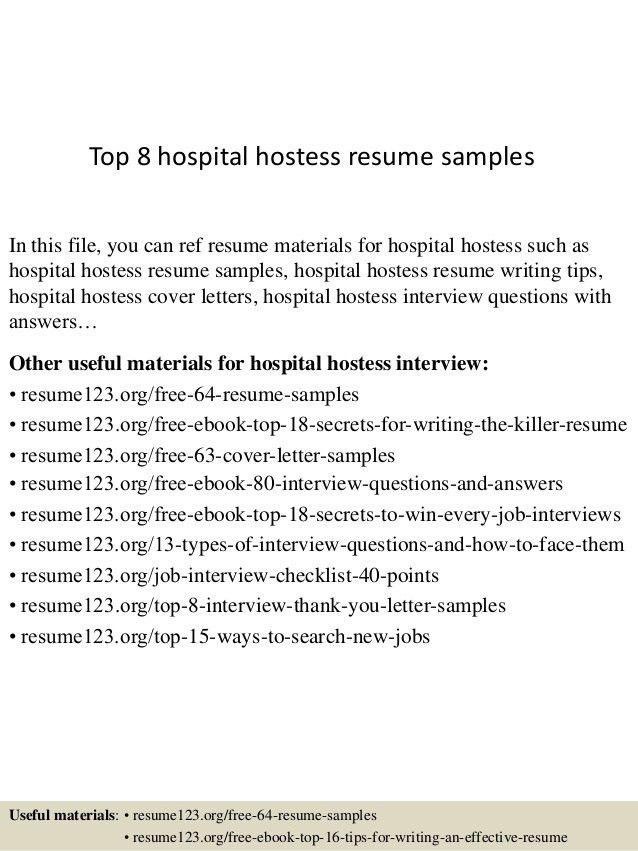 Hostess Resume Samples Unforgettable Host Hostess Resume Examples - hostess resume