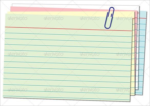 Note Card Template Note Card Template 9 Download Free Documents - flash card template