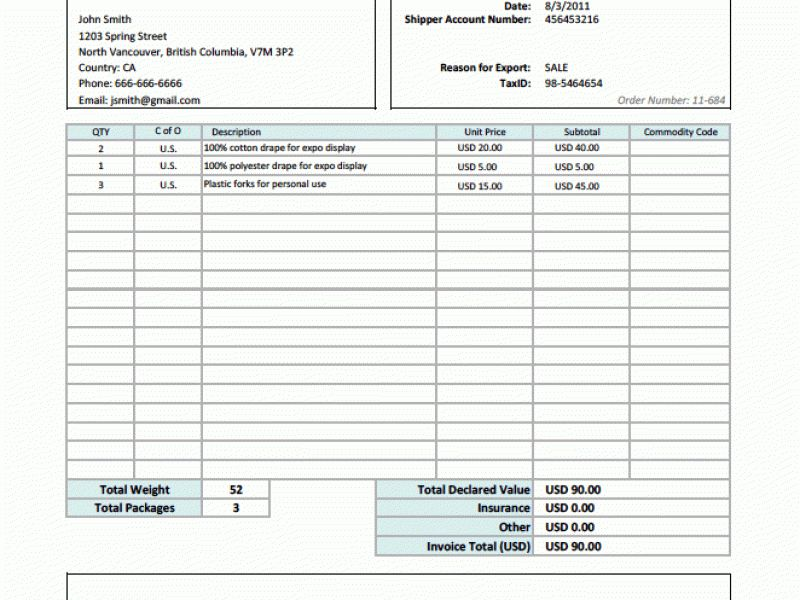 Formal Invoice 5 Formal Invoice Template Financial Statement Form - create free invoice online