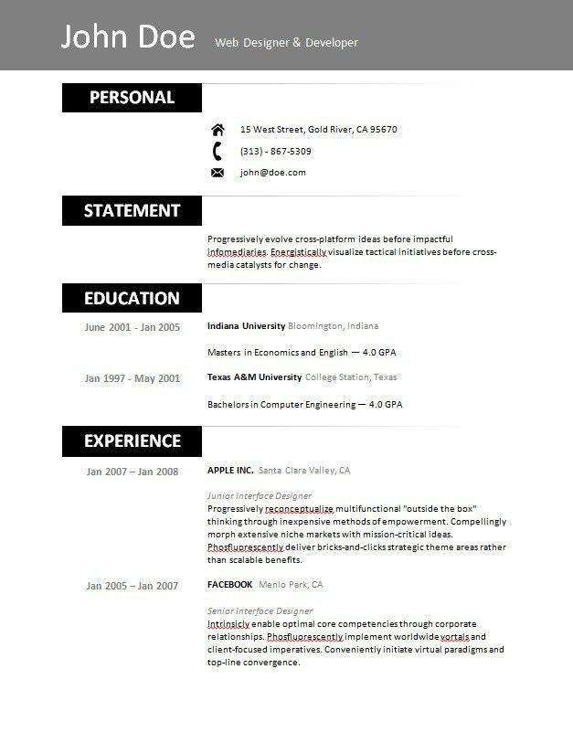 Free Resume Builder Online Printable 11 Best Free Online Resume - free online resume templates