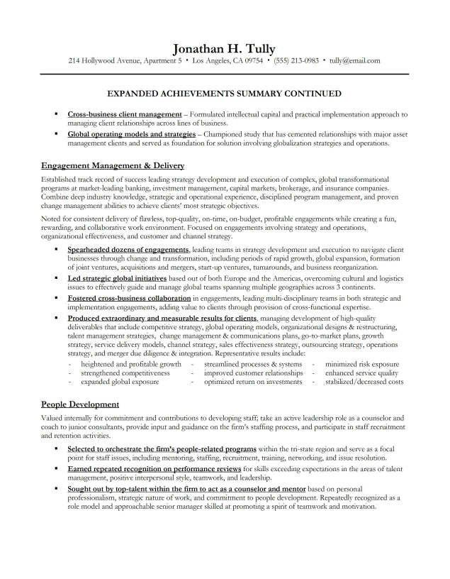 Achievements Examples For Resume Resume Achievement Statements