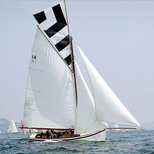 """""""Cousin Jack"""", topsail to Cornish colours"""