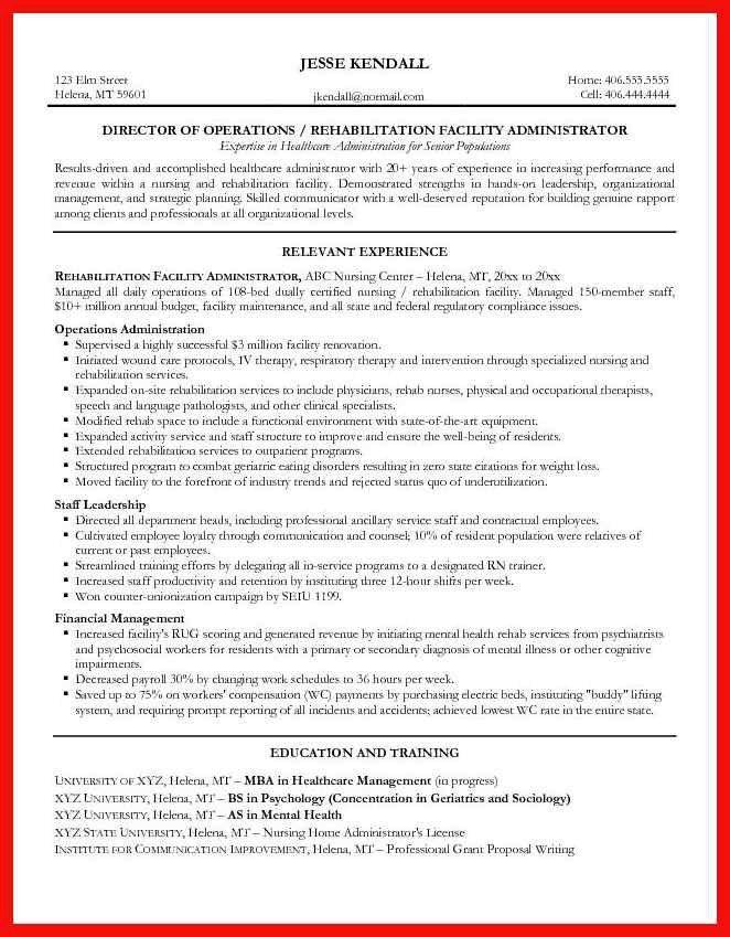 nursing home administrator resume administrative assistant resume