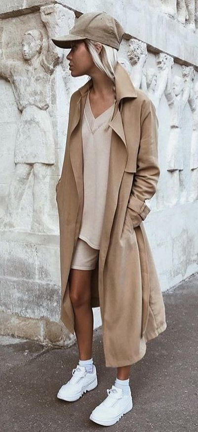 brown trench coat #summer #outfits